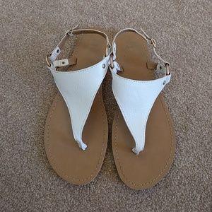 GAP sandals, white, size 8